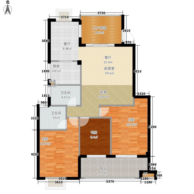 江南水都杰座124.00㎡江南水都杰座户型图3室2厅2卫1厨户型10室