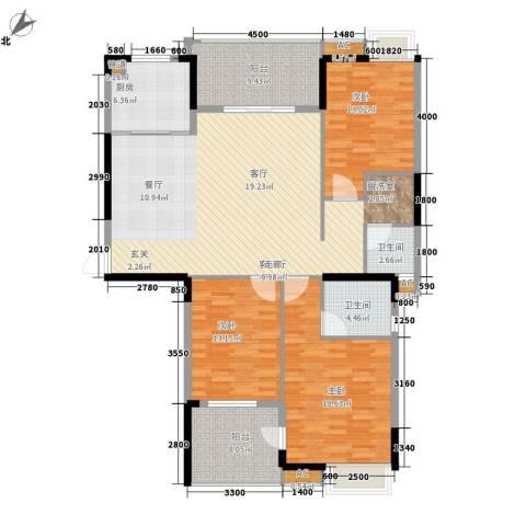 秦淮绿洲别墅3室1厅2卫1厨139.00㎡户型图