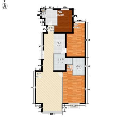 丽苑阳光城3室0厅2卫1厨169.00㎡户型图