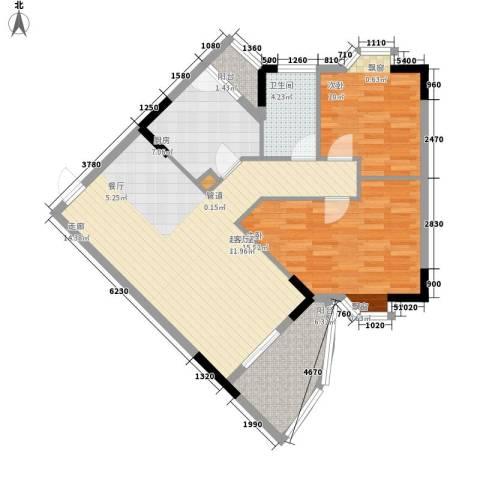 金逸雅居2室0厅1卫1厨87.00㎡户型图