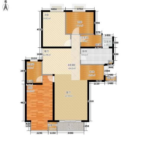 新华联丽景3室0厅3卫1厨128.00㎡户型图