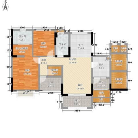 金马香颂居2室0厅2卫1厨115.00㎡户型图