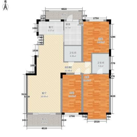 吉粮康郡3室0厅2卫1厨146.00㎡户型图