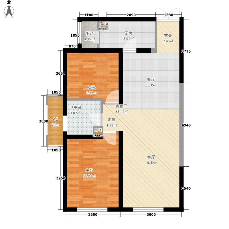金茂现场93.34㎡3号楼02/05面积9334m户型
