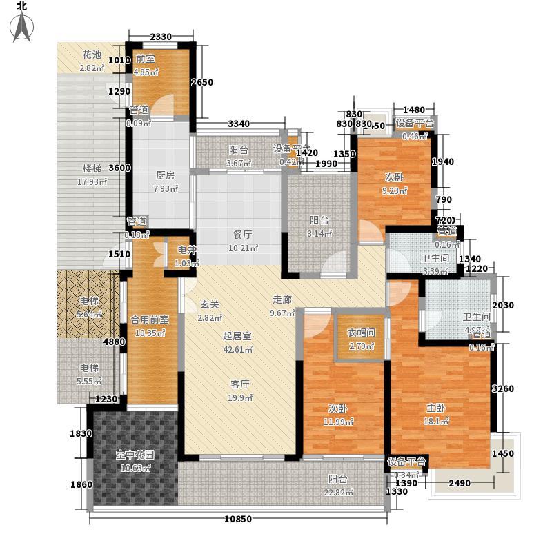 中惠璧珑湾177.00㎡1栋01单位户型3室2厅