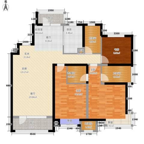 未名山II期3室0厅2卫1厨159.00㎡户型图