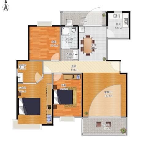 逸静园2室1厅1卫1厨142.00㎡户型图