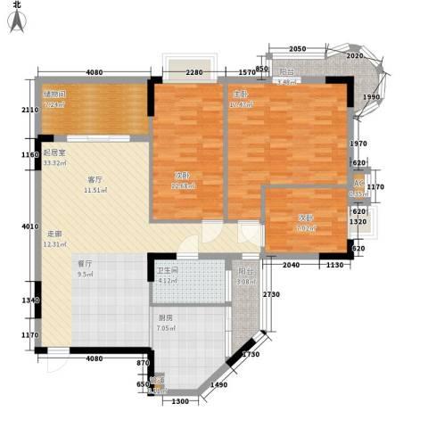 金逸雅居3室0厅1卫1厨110.00㎡户型图