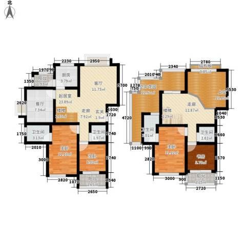 望麓锦园4室1厅4卫1厨147.00㎡户型图