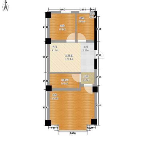 实华・新兴佳园2室0厅1卫1厨60.00㎡户型图