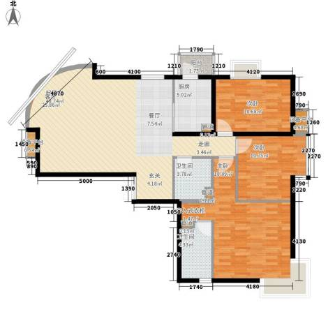新华联丽景3室0厅2卫1厨140.00㎡户型图