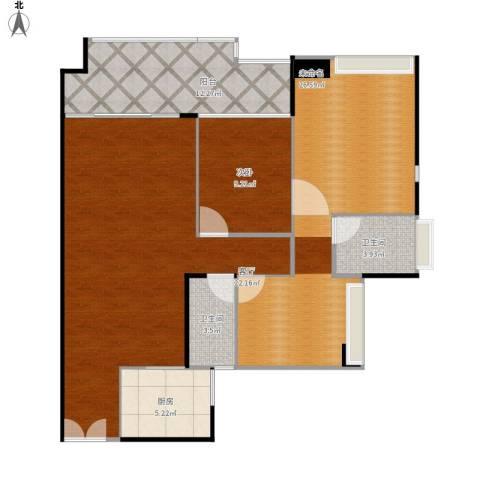星光礼寓1室1厅2卫1厨127.00㎡户型图