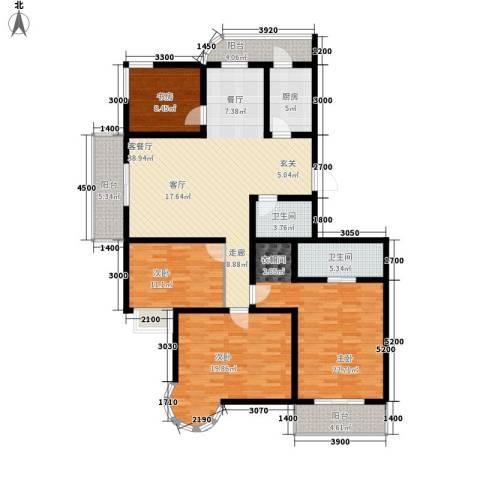 富水一方4室1厅2卫1厨181.00㎡户型图