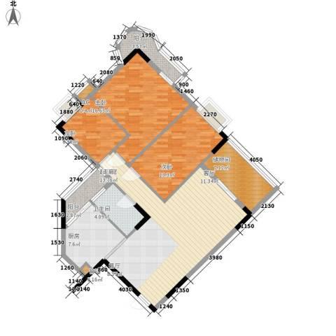 金逸雅居3室0厅1卫1厨109.00㎡户型图