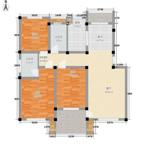 顺城名湾3室0厅2卫1厨115.00㎡户型图