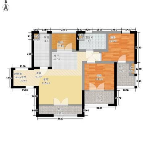 上榀坐2室0厅1卫1厨105.00㎡户型图