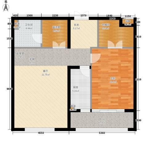 亮马桥9号院1室0厅1卫1厨112.00㎡户型图
