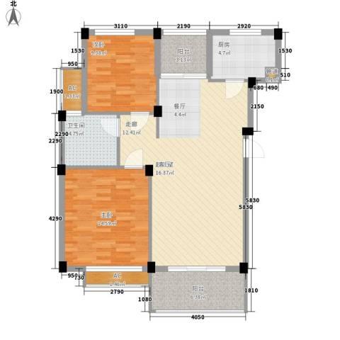 维科城市桃源2室0厅1卫1厨89.00㎡户型图