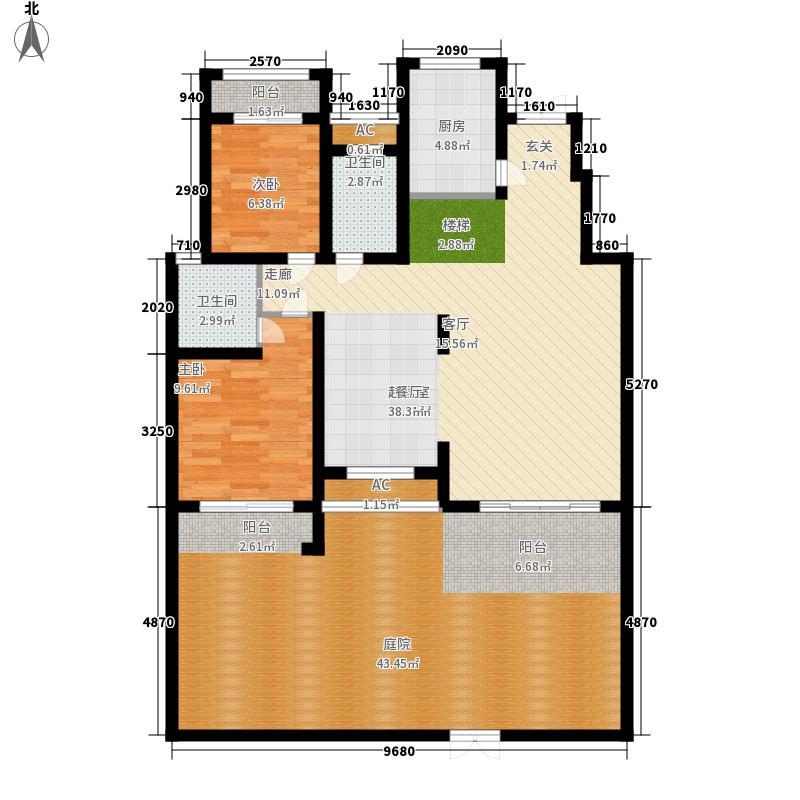 建业桂园254.23㎡墅质洋房B1西户一层户型
