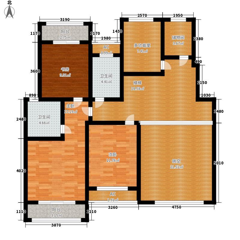 建业桂园254.23㎡墅质洋房B1西户二层户型