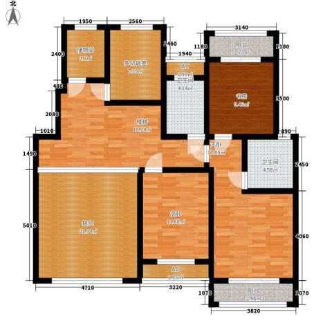 建业桂园3室0厅2卫0厨251.00㎡户型图