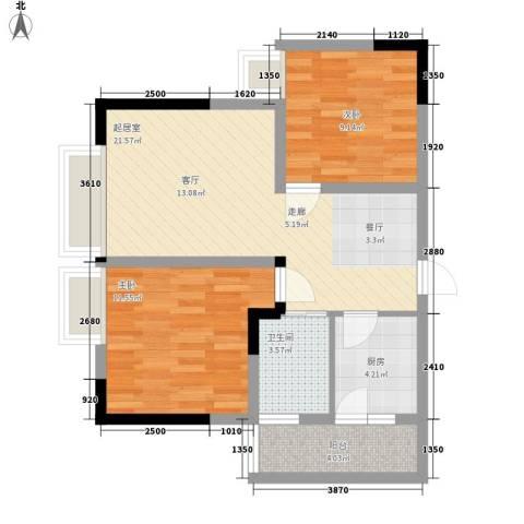 逸静丰豪2室0厅1卫1厨78.00㎡户型图