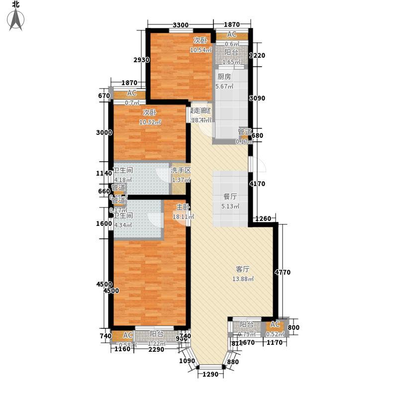 珠江峰景129.41㎡10、11号楼A面积12941m户型