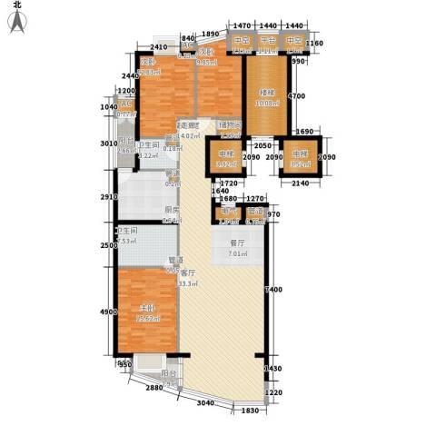 富卓花园3室0厅2卫1厨163.09㎡户型图