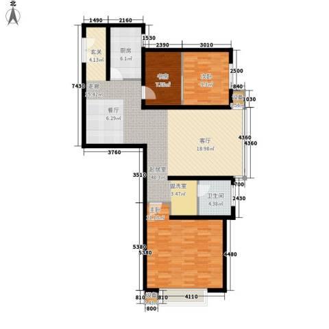 百步滨江3室0厅1卫1厨113.00㎡户型图