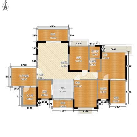 学苑花城3室0厅2卫1厨165.00㎡户型图