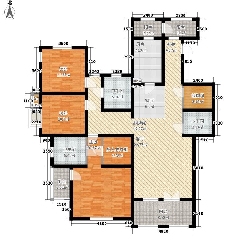 世嘉光织谷户型图D3户型3室2厅3卫1厨(4/18张)