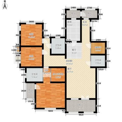 世嘉光织谷3室0厅3卫1厨160.00㎡户型图