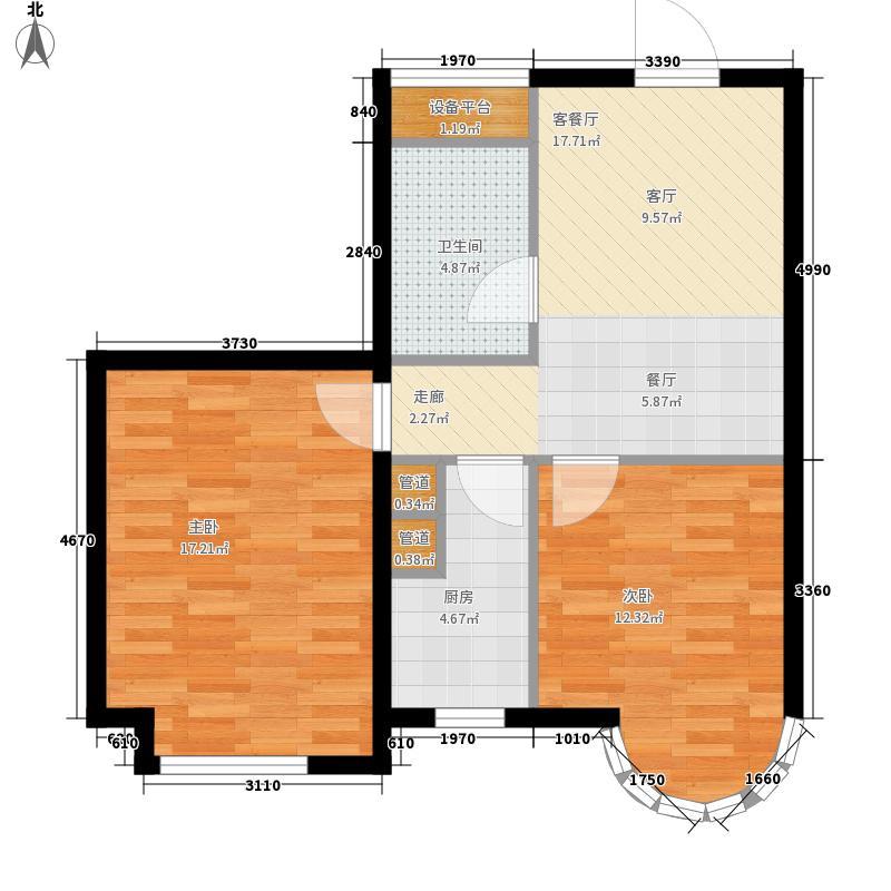金海嘉园67.97㎡金海嘉园户型图户型图2室1厅1卫1厨户型2室1厅1卫1厨