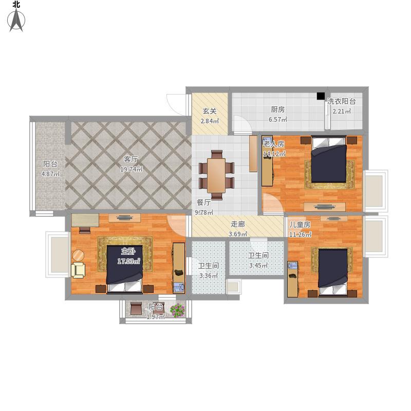 曲靖-公安小区120栋-设计方案
