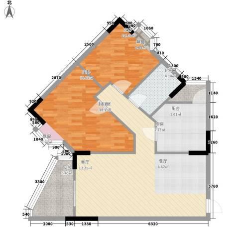金逸雅居2室0厅1卫1厨86.00㎡户型图