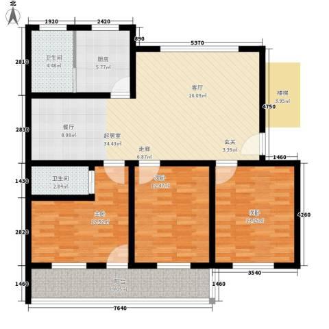 广宇银杉雅园3室0厅2卫1厨109.00㎡户型图