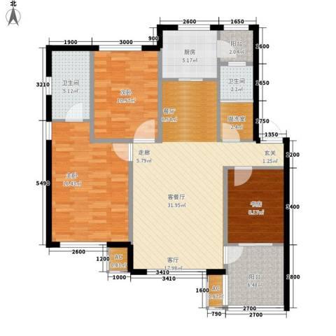 筑石居易3室1厅2卫1厨120.00㎡户型图