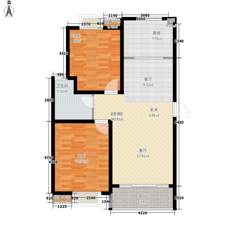 牡丹苑92.00㎡牡丹苑2室户型2室