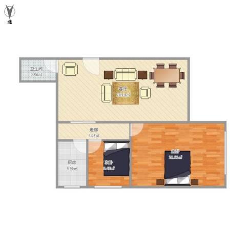 家电大楼2室1厅1卫1厨89.00㎡户型图