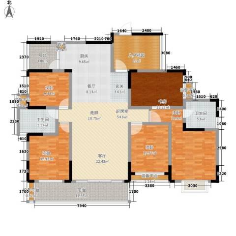 枫雅名苑5室0厅2卫0厨186.00㎡户型图
