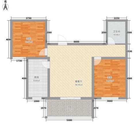 运河鑫城3室1厅1卫1厨92.00㎡户型图