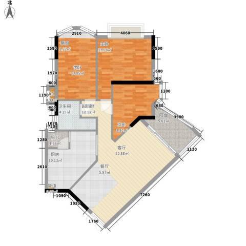 金逸雅居3室0厅1卫1厨99.00㎡户型图