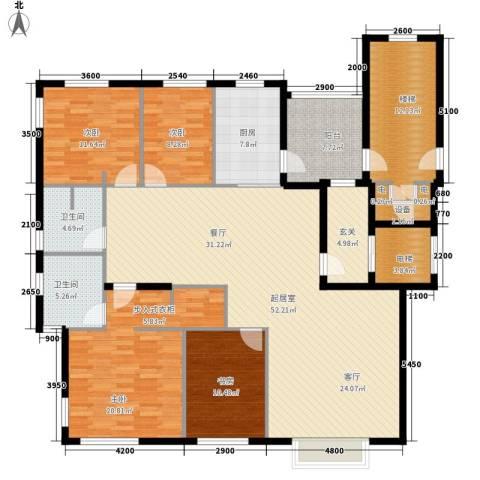 南湖一号4室0厅2卫1厨151.53㎡户型图