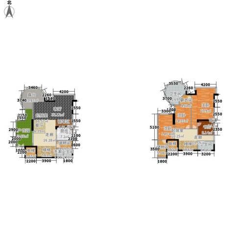 海棠晓月・怡景天域(二期)4室0厅3卫1厨233.00㎡户型图