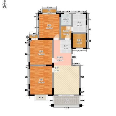泾和苑3室0厅1卫1厨120.00㎡户型图