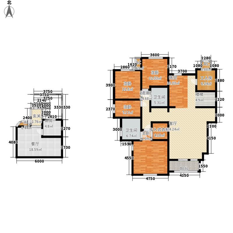 世嘉光织谷205.00㎡世嘉光织谷户型图花墅F12户型4室2厅2卫1厨(1/5张)户型4室2厅2卫