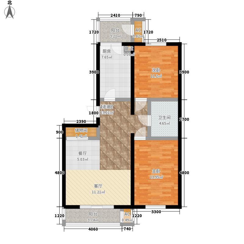 润禾佳苑99.20㎡一期高层标准层B户型