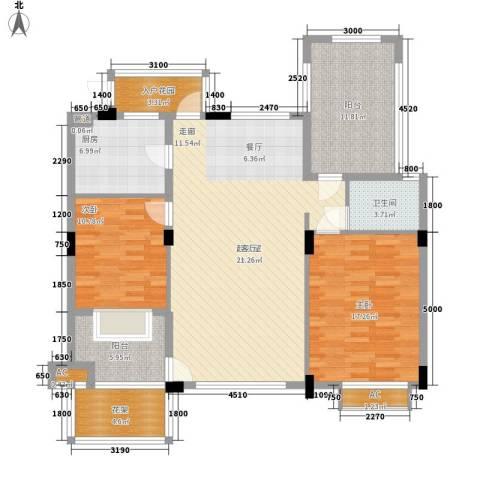 新宇拉菲公馆2室0厅1卫1厨105.26㎡户型图