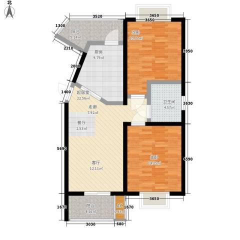 中冶祥腾城市佳园2室0厅1卫1厨85.00㎡户型图