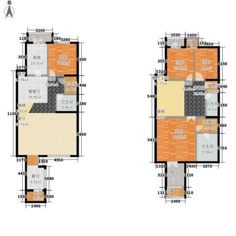 傲城尊邸4室2厅4卫1厨325.00㎡户型图